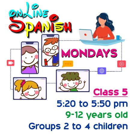 Register Mondays Online Class 5