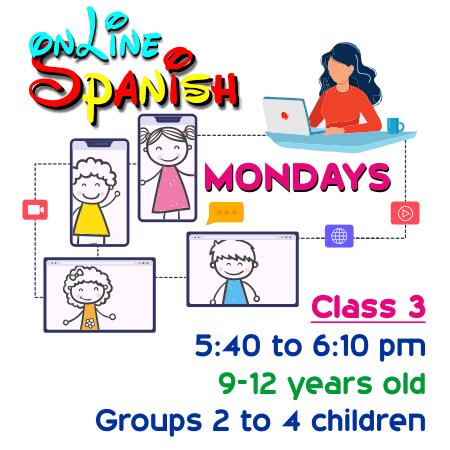 Register Mondays Online Class 3