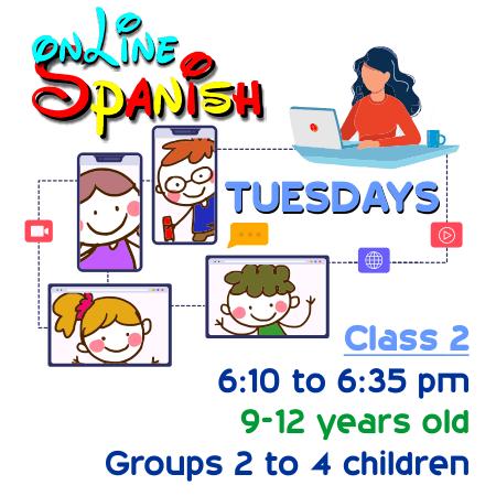 Register Tuesdays Online Class 2
